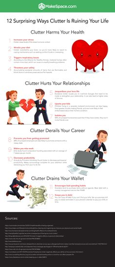 This to-the-point infographic says it all: CLUTTER IS RUINING YOUR LIFE!!