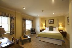 Coach House Room, views overlooking Abbey Gate, large spacious and classically designed