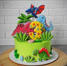 Super Birthday Cake Decorating Design How To Make 38 Ideas Dinosaur Birthday Cakes, Baby Birthday Cakes, Dinosaur Cookies, Dinasour Cake, Dinosaur Party Decorations, Dino Cake, Cake Decorating Designs, Birthday Cake Decorating, Party Cakes