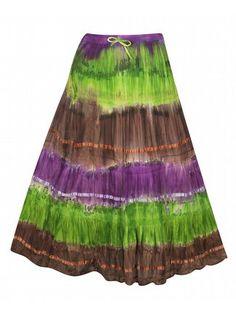 Green Tie Dye Skirt