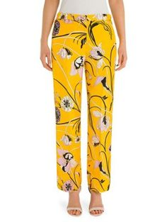 printed cropped trousers - Yellow & Orange Emilio Pucci lqLSj