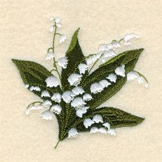 Plants Embroidery Design: Lily of the Valley from Starbird Inc