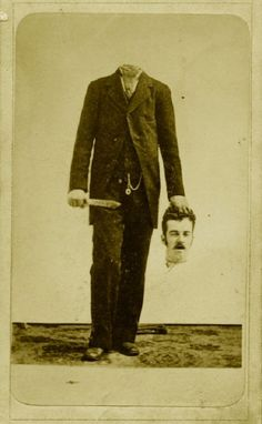 A decapitated man, ca. 1875 - The Creepiest Headless Portraits from the Victorian Era