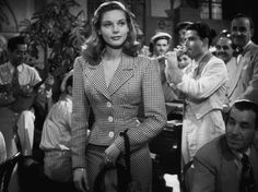 Lauren Bacall in To Have and Have Not (1944). gif