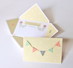 Carte Merci DIY / free download Zü Printable Thank You Notes, Free Printable, Birthday Wallpaper, Handmade Books, Happy Birthday Cards, Diy Projects To Try, Diy Party, Diy For Kids, Deco