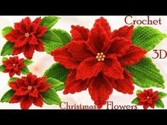 Crochet Mukluks - Como hacer flores Nochebuena a Crochet en punto tejido tallermanualperuHow To Crochet A Rose: Easy Crochet lessons to crochet flowers partCrochet Poinsettia Flower Bouquet Free Patterns - Decor Tips crochet poinsettia flower Crochet Flower Tutorial, Crochet Flower Patterns, Crochet Doilies, Crochet Flowers, Crochet Stitches, Crochet Christmas Decorations, Christmas Crochet Patterns, Christmas Flowers, Christmas Crafts