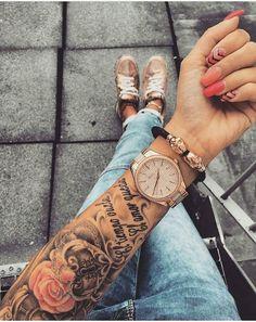 Als Melhores Tattoos de Pet - diy tattoo images - Half Sleeve Tattoos For Guys, Half Sleeve Tattoos Designs, Best Sleeve Tattoos, Tattoo Designs, Female Arm Sleeve Tattoos, Wrist Tattoos For Men, Forarm Tattoos For Women, Neue Tattoos, Body Art Tattoos