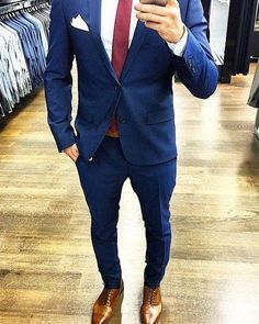 51 Ideas wedding suits men fashion groom style for 2019 suits vintage suits Prom suits Formal suits Modern suits wedding Blue Suit Brown Shoes, Blue Suit Men, Brown Dress Shoes, Navy Suits, Blue Brown, Dark Blue Suit, Tan Shoes, Mode Masculine, Mens Fashion Suits