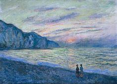 Monet / crépuscule / mer / bleu / plage  / duo / couleur / composition