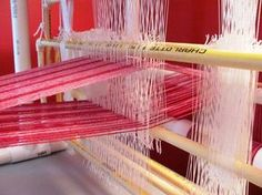 Weave without spending a fortune!  Buy the book and build your own 4-Shaft PVC Loom.