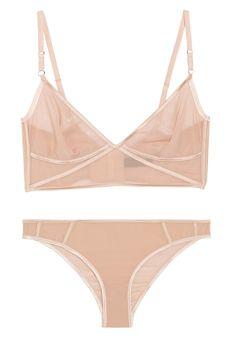 KIKI DE MONTPARNASSE Sheer Taped stretch-silk chiffon briefs  http://www.pinterest.com/adisavoiaditrev/