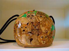 Gourd Purse by Gwendolyn Faasen, inspired by Pre-Cut Craft Ready Gourd Purses.