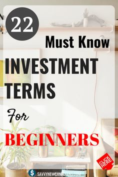 finance investing 22 Investment Terms You Should Know. Do you want to succeed in the financial/stock markets as a beginner You should know these investment terms! Start investing like a pro today. Stock Market Investing, Investing In Stocks, Investing Money, Real Estate Investing, Stocks To Invest In, Drip Investing, Ways To Save Money, Money Tips, Money Saving Tips