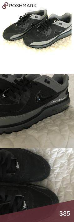 Shop Men's Nike Black Gray size 13 Athletic Shoes at a discounted price at  Poshmark. Description: Men's Nike air max wright size 13 like new condition  ...