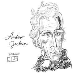 andrew jackson for presidents day andrewjackson drawing sketch digitalart