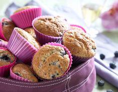 Skønne, klassiske blåbærmuffins