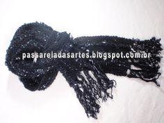 Artes na Passarela: Cachecol em cordões de tricô