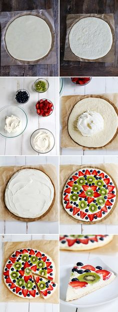 Gluten Free Fruit Pizza, Step by Step