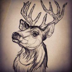 Deer head by Dicknosetengu.deviantart.com on @DeviantArt