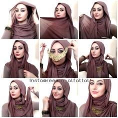 Light and airy hijab tutorial which can be worn without the necklace. Great for - Muslim Fashion Turban Hijab, Hijab Niqab, Hijab Dress, Hijab Outfit, Hijab Chic, Stylish Hijab, Square Hijab Tutorial, Hijab Style Tutorial, Hijab Mode Inspiration