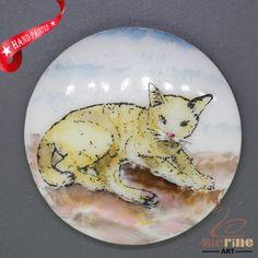 CHARMING FRIDGE MAGNET CAT WALL DECOR DIY WHITE STONE ZR3000204 #ZL #FridgeMagnet