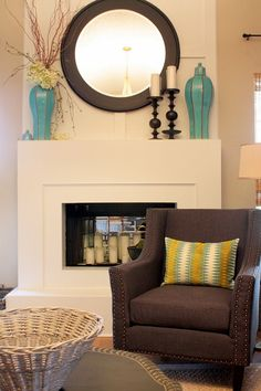 IMG_1735 by Sweet Something Design, via Flickr -- Christma fireplace in the spring -- do I still love it?  I think so