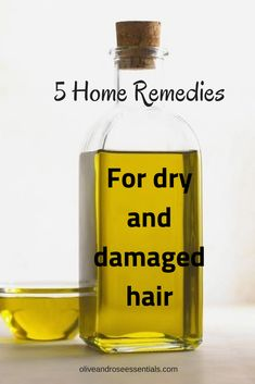 # dry hair before it leads to breakage, hair loss or dandruff. Try these 5 hair masks to lock in moisture and add shine! Home Remedies For Dry And Damaged Hair* Damaged Hair Remedies, Dry Hair Remedies, Home Remedies For Hair, Herbal Remedies, Natural Remedies, Dry Frizzy Hair, Hair Mask For Damaged Hair, Damaged Hair Repair, Dry Hair Mask