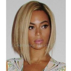 Short Blonde Ombre Wig