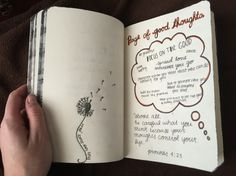 Page of good thoughts. Wreck this journal.
