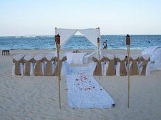 Now Larimar Punta Cana:                   beach set up