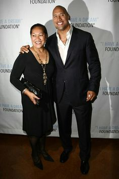 DwayneJohnson, TheRock with his amazing mom Ata Johnson