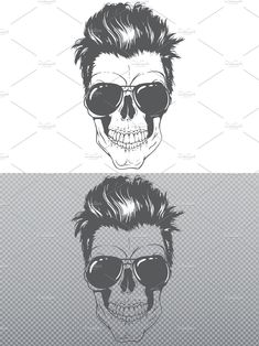 Monster Design, Modern Hairstyles, Skull, Art, Art Background, Kunst, Modern Haircuts, Performing Arts, Skulls