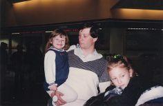 Lyubs, Dasha and Sanya at the airport 1997