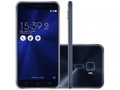 """Smartphone Asus ZenFone 3 64GB Preto Safira - Dual Chip 4G Câm. 16MP + Selfie 8MP Tela 5,5""""  de R$ 2.049,90 por R$ 1.899,90   em até 10x de R$ 189,99 sem juros no cartão de crédito  ou R$ 1.766,91 à vista"""