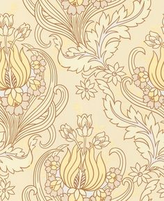 Temple Tulips - field color way - Amy Butler wallpaper.  Quite like this for a guest bedroom palette.