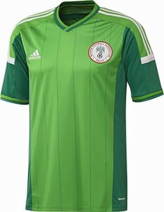 Nigeria 2014 World Cup Home and Away Kits unveiled. The new Nigeria 2014  World Cup Kit features a light green main color and comes with dark green  ... cb4ae35a0