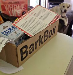 Every month you will receive a box in the mail w/4 or more carefully selected products & presents for your dog – anything from toys, bones and all-natural treats to hygiene products & new gadgets! You'll receive opportunities to order more products at a great rate.  A portion of proceeds from each box will go to help doggies-in-need. The offer a monthly, 3 month or 6 month plan.  Prices vary according to the size of your dog. @BarkBox.com