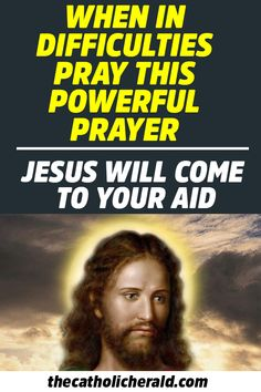 When in Difficulties Pray this Powerful Prayer and Jesus Will Come to Your Aid Prayer Scriptures, Bible Prayers, Faith Prayer, God Prayer, Power Of Prayer, Prayer Quotes, Catholic Prayers Daily, Church Prayers, Prayer For Peace