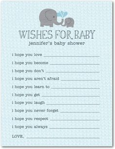 Elephant Baby Shower Games