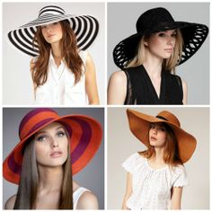 Over-sized straw hats are a perfect must for any summer vacation spot!