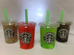 Starbucks inspired    drinks   4  cups with by FUZZYPINKBODYTREATS, $15.75