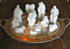 White Woods Vintage: Christmas in June! - The Glittered Nativity White Wood, White Christmas, Vintage Christmas, Christmas Nativity, June, Crafty, Woods, Winter, Winter Time