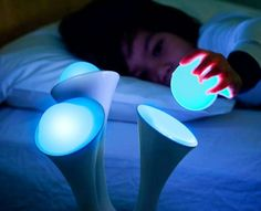 Glo Nightlight with removable non-electric balls that's safe and unbreakable.