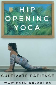 In this slow flow yoga practice we'll use deep hip stretches to help us cultivate patience on the mat so that we might have more patience off the mat. Free Yoga Videos, Free Yoga Classes, Yoga Sequences, Yoga Poses, Yoga Nature, Hip Opening Yoga, Yoga Today, Hip Stretches, Stretching Exercises