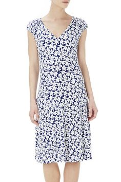 Blue Daisy Fit And Flare Dress