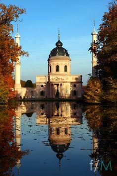 Red Mosque at garden of castle Schwetzingen, Germany