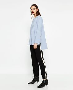 TROUSERS WITH SIDE BAND-NEW IN-WOMAN | ZARA United States