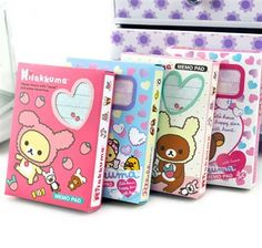 Notepads - Rilakkuma Notepads Collection | CoolPencilCase.com Japanese School Supplies, College School Supplies, Cute School Supplies, Stationary Supplies, Desk Supplies, Office Supplies, Kawaii Stationery, Stationery Paper, Animal Pencil Case