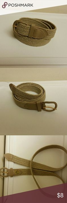 NWT Elastic braided stretch belt Brand new with tags for men and women Available in color white,  black, brown, beige,  navy, tan, gray, burgundy. Available size ( small, Medium,  Large, EXTRA Large) Accessories Belts