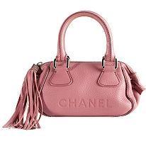 Chanel Leather Tassel Satchel Handbag